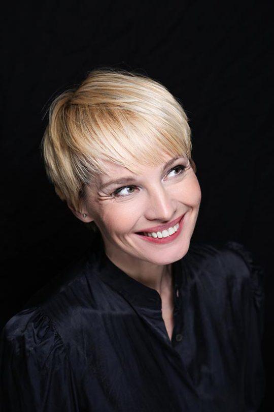 Moderatorin Susann Atwell